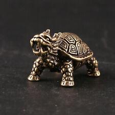 Brass Dragon Tortoise Pendant Turtle Figurine Home Lucky Feng Shui Gift Decor