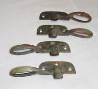 4 antique solid bronze door window latch hardware architectural salvage brass