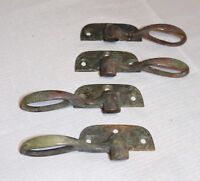 4 antique solid bronze door window latch hardware architectural salvage brass