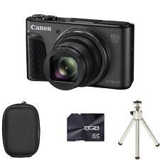 Canon PowerShot SX730 HS Digital Camera - Black + Case + 8GB Card + Tripod