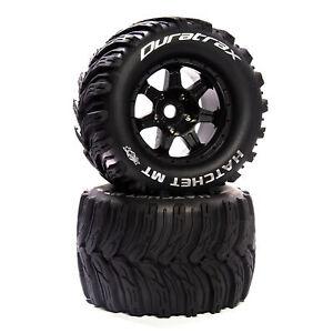 "Duratrax Hatchet MT Belt 3.8"" Mounted Front/Rear Tires .5 Offset 17mm Black 2"