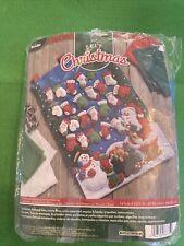 Bucilla Felt Christmas  MITTENS AND STOCKING Advent Calendar Kit 14.5