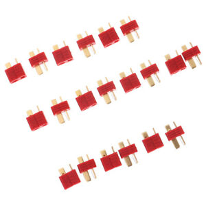 20x/10Pairs T Plug Male & Female Connectors Deans Style For RC LiPo Battery_ TC