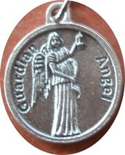 Guardian Angel Charm Medal + Prayer Meditation: Be at my side, to rule and guide