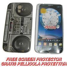 Pellicola + custodia BACK cover RIGIDA STEREO per Samsung I9500 Galaxy S4 S 4