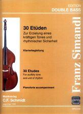 Franz Simandl 30 Etüden für Kontrabass Noten der Klavierbegleitung