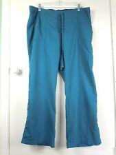 Grey's Anatomy Womens Scrub Pants XL Petite Cargo Bluish Green Drawstring 4245P