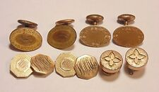 Victorian Art Deco Vintage Gold Filled Etched Engraved Cufflinks Lot 4 Pairs