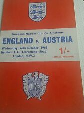 England Non-League Home Teams C-E Football Programmes