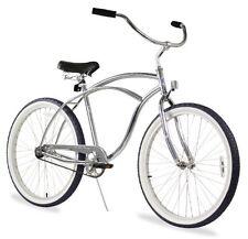 Firmstrong Urban Man Alloy Single Speed Beach Cruiser Bicycle 26-Inch Silver