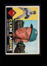 1960 TOPPS #29 CLEM LABINE AUTHENTIC ON CARD AUTOGRAPH SIGNATURE AX1964