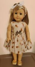 """Doll Clothes Holiday Gingerbread Cookie Dress Shrug 3Pc fits 18"""" Dolls #2"""