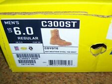 COYOTE STEEL TOE BOOTS, BELLVILLE C300ST, 6 REG, U.S. ISSUE *NEW*
