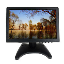 "Portable 10"" Touch Screen IPS LCD Digital Monitor AV/VGA/TV/HDMI For POS Retail"