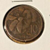 ITALY 1924 TEN CENTISIMI COIN