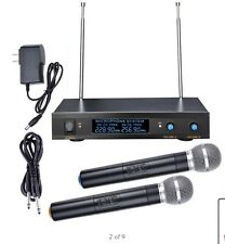 True Diversity 2 Channel VHF Handheld Wireless Microphone System LCD Display