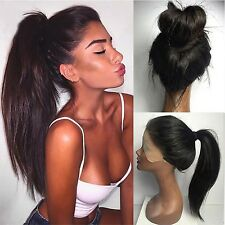 Vanessa Queen Long Straight Hair Wig High Ponytail Synthetic Lace Front Wig F...