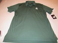 NWT CHILIWEAR MIGHIGAN STATE SPARTANS COACHES POLO SHIRT SIZE XL