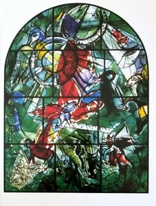 """Marc Chagall Jerusalem Windows + Lithograph of """"Gad"""" + After the Vitral"""