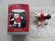 POLAR BEAR BOWLER HALLMARK CHRISTMAS ORNAMENT
