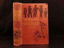 1884 1st UK ed Adventures of Huckleberry Finn Mark TWAIN Tom Sawyer Illustrated