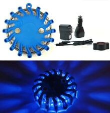 Car Safety Light Blue Magnetic Emergency Strobe Flashing Warning Rechargeable