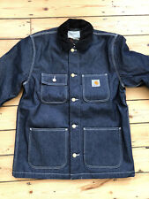 CARHARTT WIP MICHIGAN CHORE COAT. BLUE RIGID. M. BRAND NEW WITH TAGS.