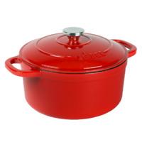 Porcelain Enameled Cast Iron Dutch Oven Kitchen Cooking Cookware 5.5 Quart Lodge