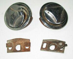 Original 1970 MUSTANG HOOD TWIST LOCKS_need restoring_D0ZB-16C710-B