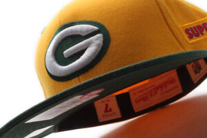 Mitchell & Ness Green Bay Packers NFL Super Bowl Fitted Cap Green UV