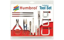 Humbrol Medium Plastic Model Tool Set W/ Cutters, Clamps, Files, Knife + AG9159