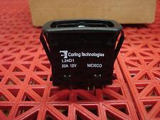 Carling Technologies Sealed Rocker Switch L24D1GCH1  20A 12V  NEW