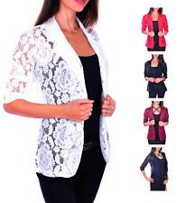 AO Festlicher Spitzen Long Blazer S - XXXXL 36 - 48 Damenblazer Casual Business