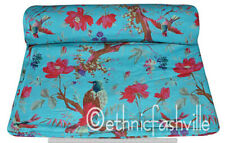 New Indian Cotton Screen Print Fabric Craft Material Running Loose Sewing 1 Yard