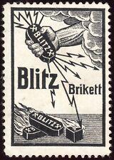 "Werbemarke Kohle, Brikett ""Blitz"""