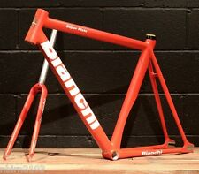 New 2016 Bianchi Super Pista 53 CM Frameset Red Track Bicycle Frame Fork