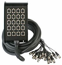 Pulse 20 Way XLR Multicore Stage Box 16 Sends 4 Returns 15m Touring Grade Snake