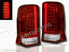 02-06 CADILLAC ESCALADE RED LED TAIL LIGHTS 4 DOORS LAMPS 2003-2005