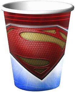 Man of Steel DC Comics Superman Superhero Kids Birthday Party 9 oz. Paper Cups