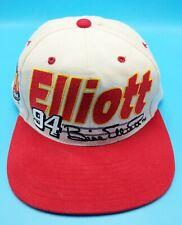 BILL ELLIOTT NO. 94 NASCAR white / red adjustable snapback cap / hat
