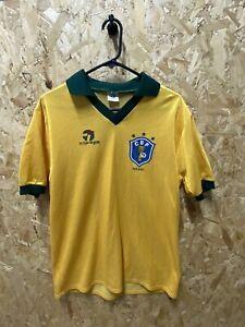 Vintage 1985/88 Topper Orignal Brazil Home Shirt Size Medium Yellow Size M