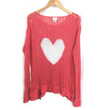 Motherhood Maternity Pullover Sweater Womens M Lightweight Heart