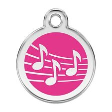 Red Dingo Dog Cat Pet ID Tags Charms FREE Personalized Engraving MUSIC NOTE