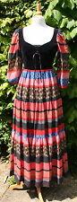 Vintage 1970's KATI Folk Boho Style Festival Dress Velvet Bodice UK 8/10