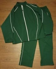 Russell Athletic Tracksuit Full Zip Track Jacket + Pants Green Large L NWOT