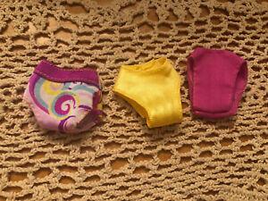 Barbie Doll size Bikini Bottoms Underwear 3 GUC *Free gift