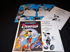 PINOCCHIO  scenario dossier presse cinema animation walt disney
