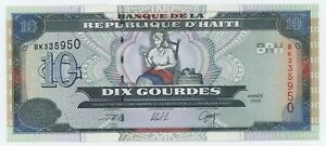 Haiti 10 Gourdes 2000 Pick 265.a UNC Uncirculated Banknote