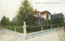 Butte Montana~Concrete Ball on Fence Post w/Stone Foundation~McQueeney Home 1910
