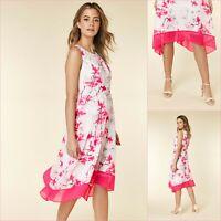 Wallis Petite Midi Dress Size 10 | Ivory Floral Print | BNWT | £50 RRP | New!